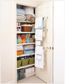 A well organized linen closet